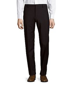 Paul Smith | Flat-Front Textu Virgin Wool Pants