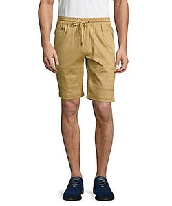 Publish | Textured Cotton-Blend Shorts