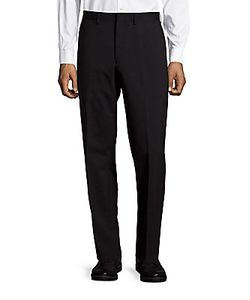 Michael Kors | Wool-Blend Flat-Front Dress Pants