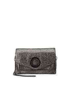 Halston Heritage | Halston Foldover Leather Crossbody Bag
