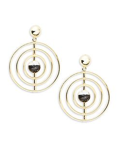 Noir | Orbital Drop Earrings