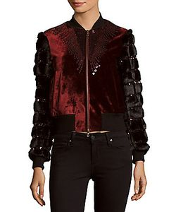 Dries Van Noten | Sequined Velvet Faux Fur Jacket