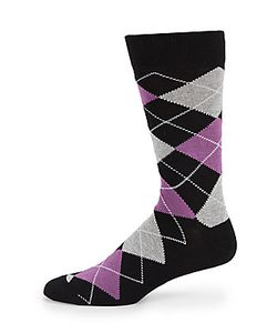 Saks Fifth Avenue Made in Italy | Classic Cotton Argyle-Print Socks