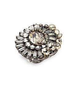 MIRIAM HASKELL | Swarovski Crystal Studded Cocktail Ring