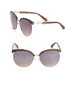 Balmain | 57mm Tortoiseshell Round Sunglasses
