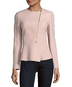 Akris | Salvia Wool Peplum Jacket