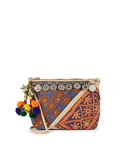 Antik Batik | Embroidered Crossbody Wallet