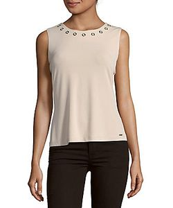 Calvin Klein | Solid Jewelneck Tank Top