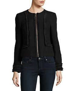 Karl Lagerfeld | Zip-Front Tweed Jacket