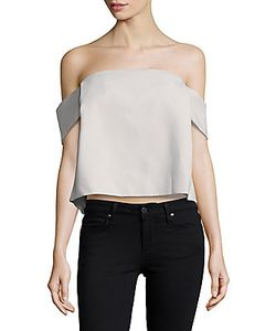 C/Meo | Those Eyes Cropped Off-The-Shoulder Top