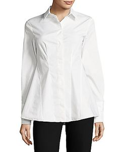 Sportmax | Solid Flared-Hem Shirt