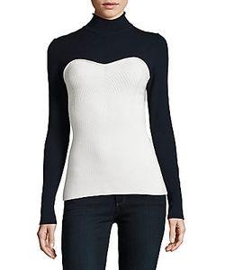 Alberta Ferretti | Turtleneck Bustier Sweater