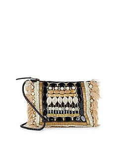 Antik Batik | Beaded Leather Clutch