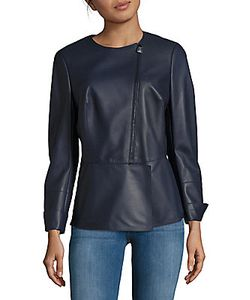 Akris | Selma Long-Sleeve Leather Jacket