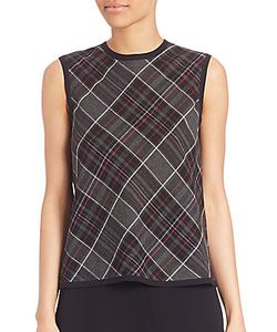 Public School | Dalya Plaid Tank Top