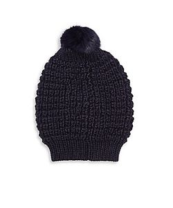 Jocelyn | Pom-Pom Fur Knit Hat