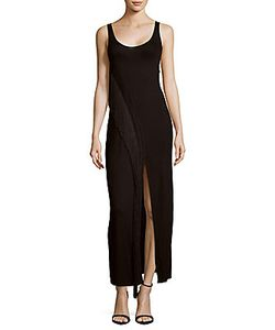 Haute Hippie   Solid Fringed Tank Gown