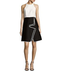 Halston Heritage | Ruffled Colorblock Dress