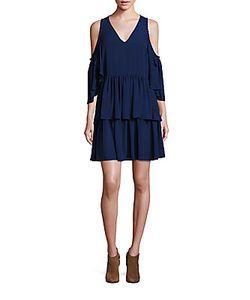 Rebecca Minkoff | Roberta Cold Shoulder Ruffle Dress