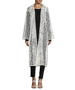 Akris | Tibetha Cutwork Pattern Open-Front Jacket