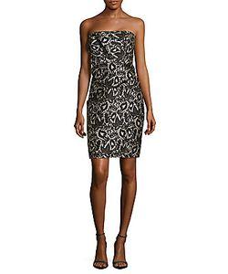 J. Mendel | Strapless Drape-Waist Sheath Dress