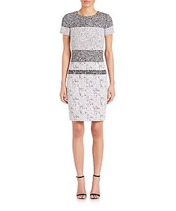 Carolina Herrera | Noise Printed Sheath Dress