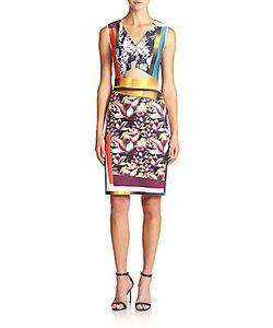 Clover Canyon | Printed Neoprene Cutout Dress