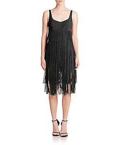 Tamara Mellon | Leather Fringe Short Jumpsuit