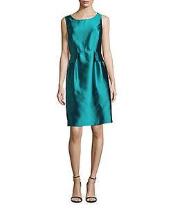 Oscar de la Renta | Solid Silk-Blend Dress