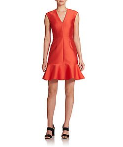 Carven | Ruffled Fit Flare Dress