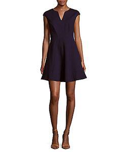 Halston Heritage | Cap-Sleeve A-Line Dress