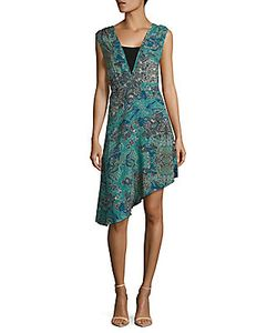 Zadig & Voltaire | Root Printed Sleeveless Asymmetric Dress