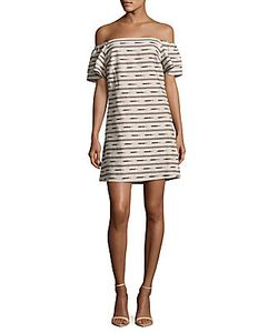 Alice + Olivia | Tula Printed Off-The-Shoulder Dress
