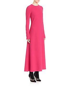 Derek Lam | Solid Virgin Wool Blend Maxi Dress