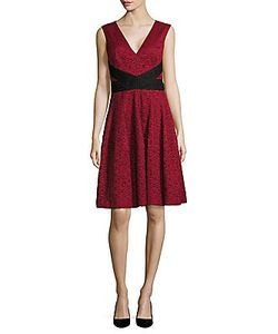 J. Mendel | V-Neck Lace-Overlay Dress