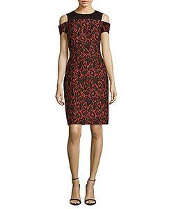J. Mendel | Textured Cold-Shoulder Dress
