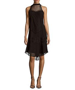 Haute Hippie   High-Neck Sleeveless Silk Dress