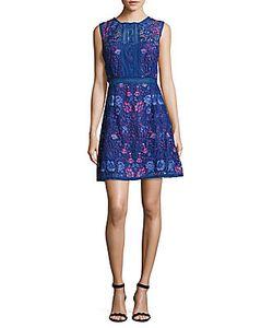 Marchesa Notte | Lace Sleeveless Dress