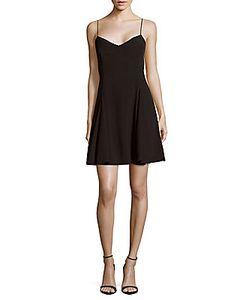 Marchesa Notte | V-Neck Fit Flare Dress