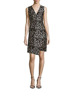 J. Mendel | Printed V-Neck Dress