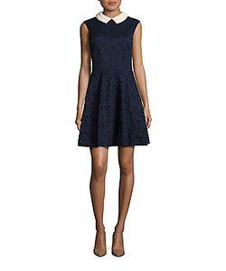 Vera Wang | Pearl Collar Dress