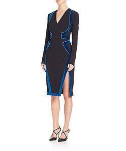 Altuzarra   Long Sleeve V-Neck Dress