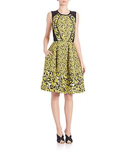 Oscar de la Renta | Jacquard Fit-And-Flare Cocktail Dress
