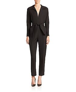 Martin Grant | Belted Wool Jumpsuit