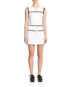 Monreal London | Sleeveless Mesh-Detail Mini Dress
