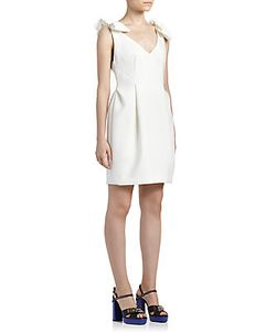 Lanvin | Bow-Detail V-Neck Dress