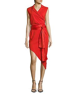 Baja East | Solid Asymmetrical Wrap Dress