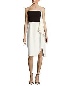 H Halston   Ruffled Colorblock Dress