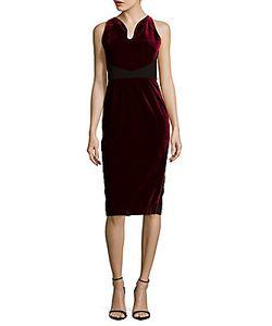 Roland Mouret | Mennan Velvet Sheath Dress