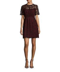 Sandro | Reply Jewelneck Lace Dress